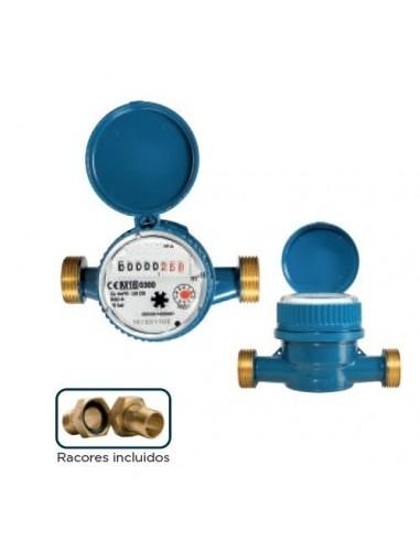 Contador agua 13mm de chorro único esfera seca